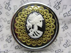 Pill Case Box Container Trinket Box Lolita the Skeleton Goddess Comes with Pouch Stocking Stuffer