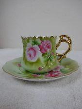 20% OFF! Vintage Lefton Heritage Roses 7 oz. Cup and Saucer #3067