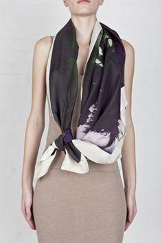 polaroid scarf
