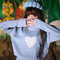 Cute Japanese Fashion Knit Sweater on Mori Girl の森ガール.Japanese Cute Cupid High Neck Knit Sweater Sweet Heart Pullover Mg695 catches up with the japanese cute style.Get yourself ready to look fashion and keep out the cold on wearing it in the autumn or winter.Don't miss it.