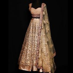 Light pink and purple Indian lehenga choli, sweetheart neckline. Shyamal & Bhumika
