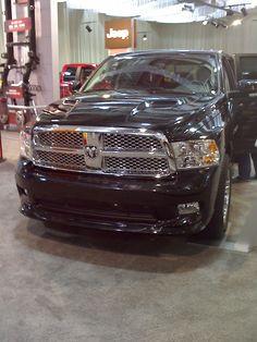 Dodge Ram black nice chrome trim
