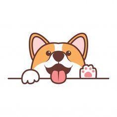 Baby dog dog love Vectors, Photos and PSD files Walking Cartoon, Running Cartoon, Cute Corgi Puppy, Corgi Dog, Bear Cartoon, Cartoon Icons, Corgi Cartoon, Dog Paw Art, Beagle Art