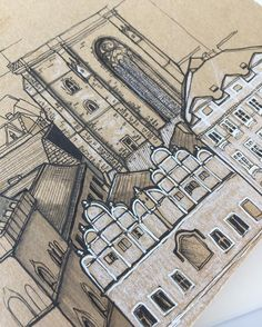 Working on a little Moleskine commission   #art #drawing #pen #sketch #illustration #linedrawing #architecture #city #prague #czechrepublic #moleskine