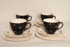 Alfred Meakin Midnight Star Vintage Dishes, Vintage China, Vintage Ceramic, Alfred Meakin, Best Dishes, Teacups, Kitsch, Tea Time, Dinnerware