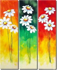 handmade oil painting on canvas modern Best Art Flower oil painting original directly from artis Daisy Painting, Oil Painting Flowers, Abstract Flowers, Acrylic Painting Canvas, Painting On Wood, Flower Paintings, Mini Canvas Art, Canvas Wall Art, Art Floral