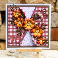 Card with handmade flowers