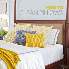 Pillows harbor dirt, dust, sweat, and plenty of other things you'd rather not think about, let alone sleep on. Learn how to clean pillows so you can rest assured you've a fresh place to lie your head.