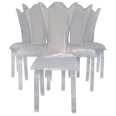 Vintage Lucite Dining Chairs - Set of 6