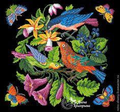 """Купить Схема вышивки """"Птичий концерт"""" - схема для вышивки, схема для вышивки крестом, схема вышивки"""