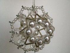 Beaded Christmas Snowball Ornaments