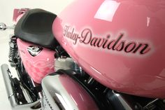 A pink Harley! Maybe I will own another Harley someday. Harley Bikes, Harley Davidson Motorcycles, Harley Gear, Pretty In Pink, Moto Logo, Pink Motorcycle, Pink Bike, Biker Chick, Everything Pink