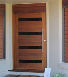 Modern front door with horizontal glass windows | Gallery of ...