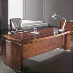 """This desk belongs to a beautiful and exclusive executive office series. A must see. Dimensions: 30""""H X 78""""W X 39""""D"""