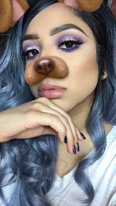 Purple glitter cut crease  • Morphe 35P palette