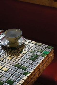 Happy Palace restaurant Moth Design, Mah Jong tiles tables