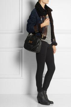 Marc by Marc Jacobs Classic Q Lil Ukita textured-leather shoulder bag  NET-A-PORTER.COM