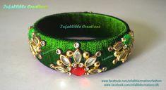 Silk Thread Bangles Design, Silk Thread Earrings, Thread Jewellery, Diy Jewellery, Jewelry Design, Kundan Bangles, Silk Bangles, Cuff Bracelets, Quilling Jewelry