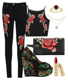"""""""Black Rose♥"""" by sindhunaga4 on Polyvore featuring WearAll and Iron Fist"""