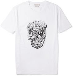 Alexander McQueen Skull-Print Cotton T-Shirt | MR PORTER