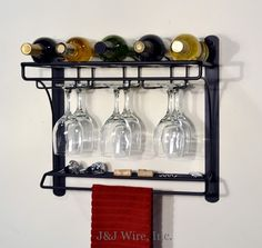 Have To Have It Oenophilia Wine Bar Wall Mount Winerack 6 Bottle