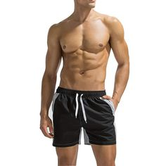 Gogolan Fashion Men Sports Shorts Beach Shorts Quick Dry No Distortion No Embarrassment - Blue XX-Large Swim Shorts Women, Sport Shorts, Mesh Underwear, Cotton Boxer Shorts, Casual Skirt Outfits, Sexy Men, Hot Men, Pajamas Women, Ladies Dress Design