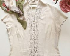 Check out our embroidered blouse selection for the very best in unique or custom, handmade pieces from our blouses shops. Embroidered Blouse, Tunic Tops, Etsy, Shopping, Women, Fashion, Moda, Women's, Fashion Styles