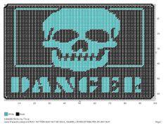 Danger Skull Wall Hanging  2/2