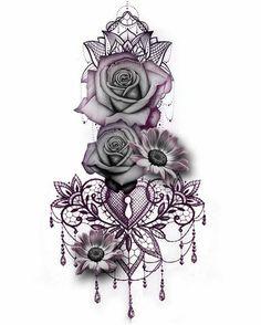 Gothic Rose Mandala Chandelier Back Tattoo ideas for Women - Traditional Vintage.Gothic Rose Mandala Chandelier Back Tattoo ideas for Women - Traditional Vintage Cool Unique Geometric Black Floral Flower Sunflower for Spine - rosas góticas ide Sexy Tattoos, Trendy Tattoos, Body Art Tattoos, Tatoos, Best Female Tattoos, Great Tattoos, Finger Tattoos, Diy Tattoo, Custom Tattoo