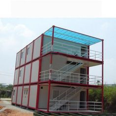 Container Houses Flat Pack Mobile Shipping Container Homes, Shipping Containers, Building A House, Multi Story Building, Prefab Buildings, Container Houses, Exterior, Cabin, Architecture
