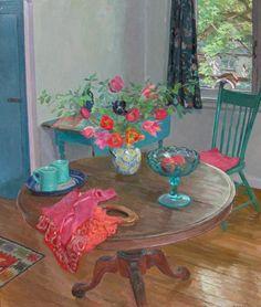 Kann, Isabel - Still Life with Blue Mugs | Loch Gallery