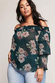 21a6fa38976 Lauren Ralph Lauren Plus Size Floral Jersey Off the Shoulder Top Women s  Clothing