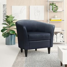 """Zipcode Design™ Evan 66.5"""" Wide Square Arm Convertible Sofa & Reviews   Wayfair Tufted Storage Ottoman, Chair And Ottoman, Wingback Chair, Sofa Bed, Swivel Barrel Chair, How To Make Bed, New Wall, Side Chairs, Room Chairs"""
