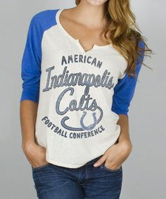 84770c044d7 Junk Food Indianapolis Colts Rookie Raglan Tee - Women