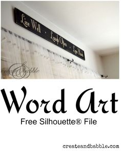 Vinyl Word Art with free Silhouette cut file Silhouette Cutter, Silhouette Curio, Silhouette Vinyl, Silhouette Portrait, Silhouette Machine, Silhouette Design, Silhouette School, Silhouette Files, Silhouette Cameo Tutorials