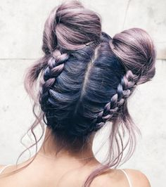 Reverse braided double buns by Joshi