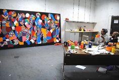 FOR A BETTER FUTUR. Sarayevo. 2012  Acrylic on canvas. 370x200cm.  By REMED & 3TTMAN. Bibliotheka Vijecnica, Sarayevo. BOSNIA 2012
