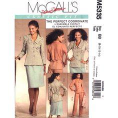 Womens Jacket Skirt & Pants Pattern McCalls by finickypatternshop