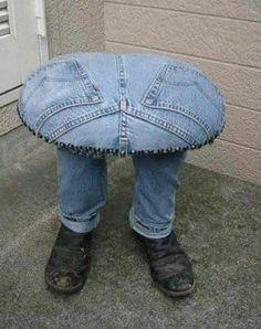 krukje met oude jeans