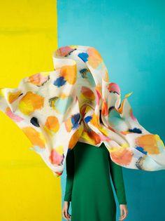 Rambutan scarf / Marimekko S/S 14 Those colours. Marimekko, Design Textile, Fabric Design, Motif Design, Cup Design, Pattern Design, Mode Inspiration, Color Inspiration, Color Patterns