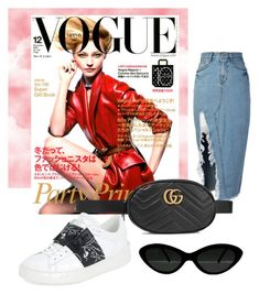 """""""💄"""" by minaoguz on Polyvore featuring moda, storets, Gucci ve Valentino"""