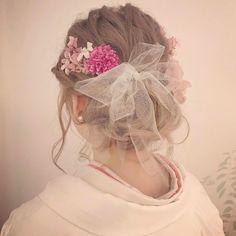 結婚式の和装にチュールリボンを合わせるヘアアレンジ、髪型まとめ | marry[マリー]