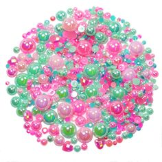 This embellishment pack contains a luscious mixture of rhinestones and pearls in tones of hot pink and teal The sparkly gems range in size from Nail Decorations, Ipad Case, Adhesive, Embellishments, Hot Pink, Card Making, Teal, Packing