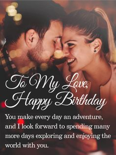 Happy Birthday Card A Man And Woman Sit Comfortably On Couch As The Offers Jewelry Box Bouquet Of Lush Red