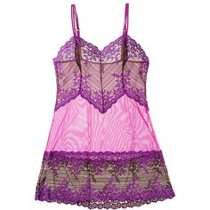 Wacoal Embrace Lace Chemise ($36) ❤ liked on Polyvore featuring intimates, chemises, purple, wacoal, wacoal chemise, lace chemise, lacy slips and lace slips