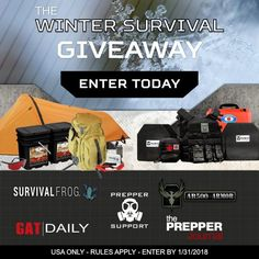 ENTER HERE for your chance To Win The Winter Survival Giveaway from @preppersupport!  https://wn.nr/hBQcty