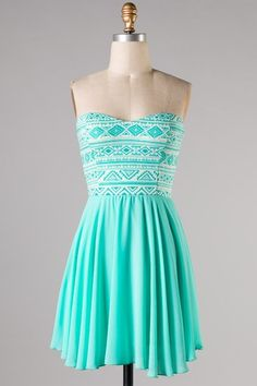 Mint Aztec Dress