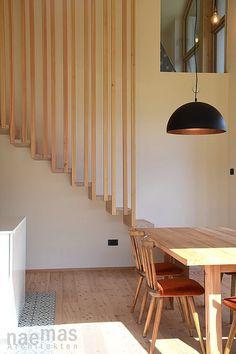 naemas Architekten Meran | 13010_Wohnhaus Pi, Treppen, Stufen, Holz, Wohnküche