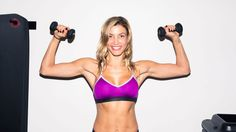 Here, Lauren Duhamel of ModelFit shows us five ultimate arm-toning moves so you too can work out like a VS Angel.