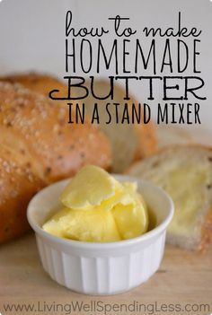 Home made butter. @aliciawhitehill this would be a good idea for a home schooling activity